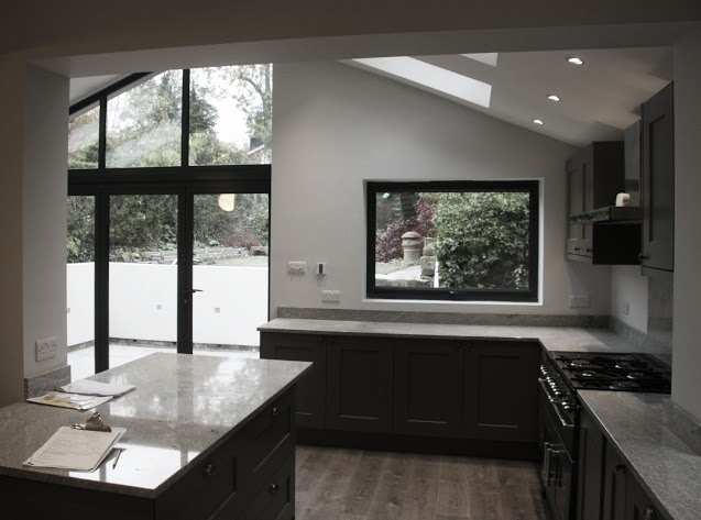 Beautiful kitchen extension and house extension to make flow through living in Sheffield