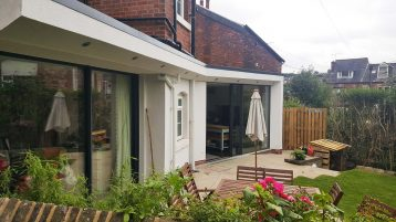 Sheffield builders ground floor extension for extended family living space with disabled access