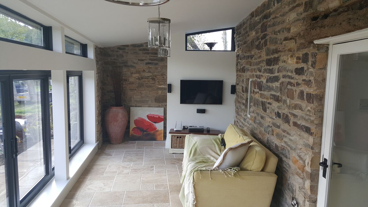 Stunning exposed brick extension Sheffield