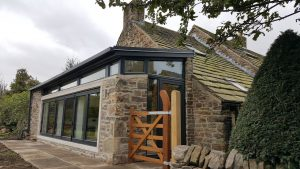 Extended Sheffield living area with bi-fold doors and steel roof