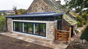 Sheffield farm extension to compliment the rustic stone structure