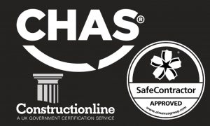 CHAS, Constructionline & Safe Contractor accreditations for Futures Building & Maintenance Sheffield